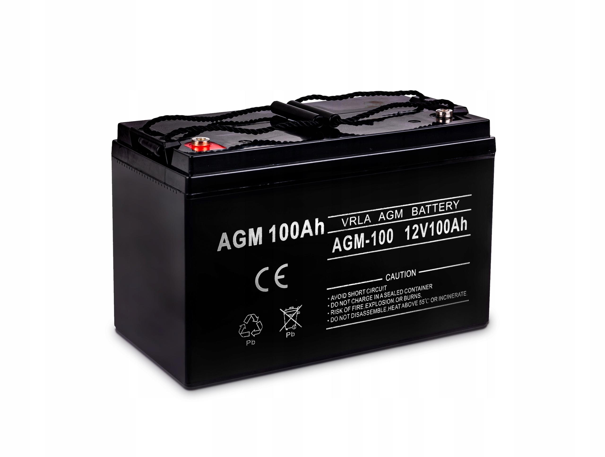 аккумулятор гелевый agm к питания 12v 100ah