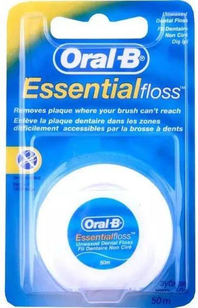 Oral-B Essential Floss Nić Dentystyczna 50m UNWAX