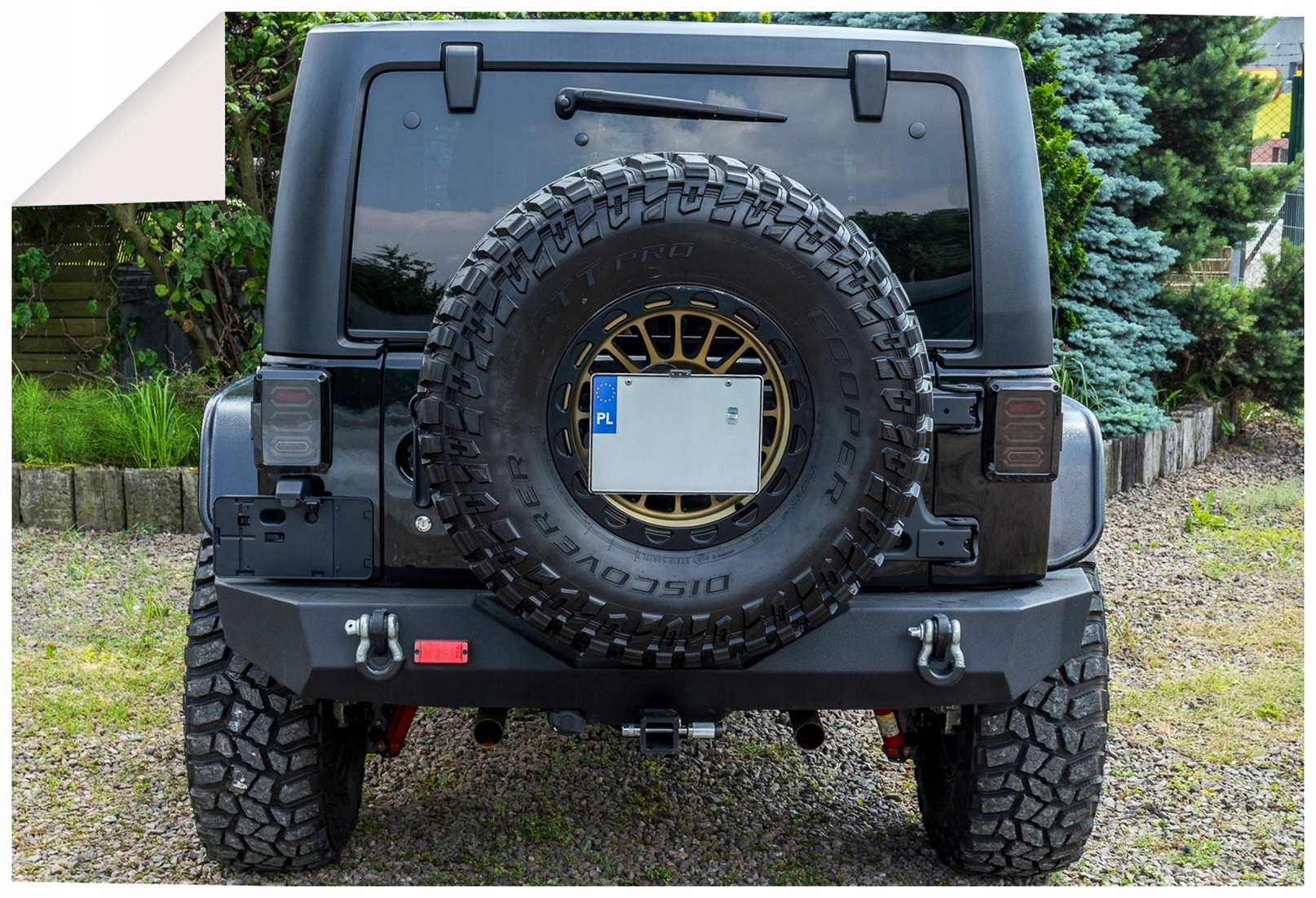 Picture of JEEP WRANGLER JL FIXING LICENSE PLATE + STOP LIGHT