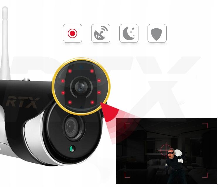 Kamera RTX SmartCam Zewnętrzna Tuya Alexa Google Waga produktu z opakowaniem jednostkowym 0.2 kg