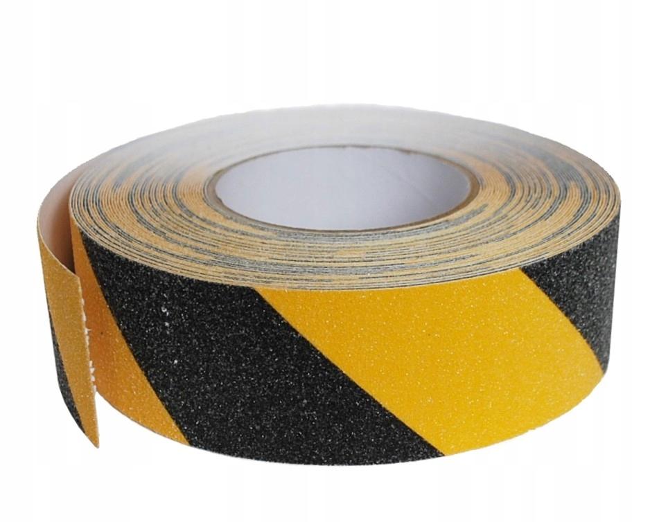 Антискользятная лента желто-черная очень сильная 1mb