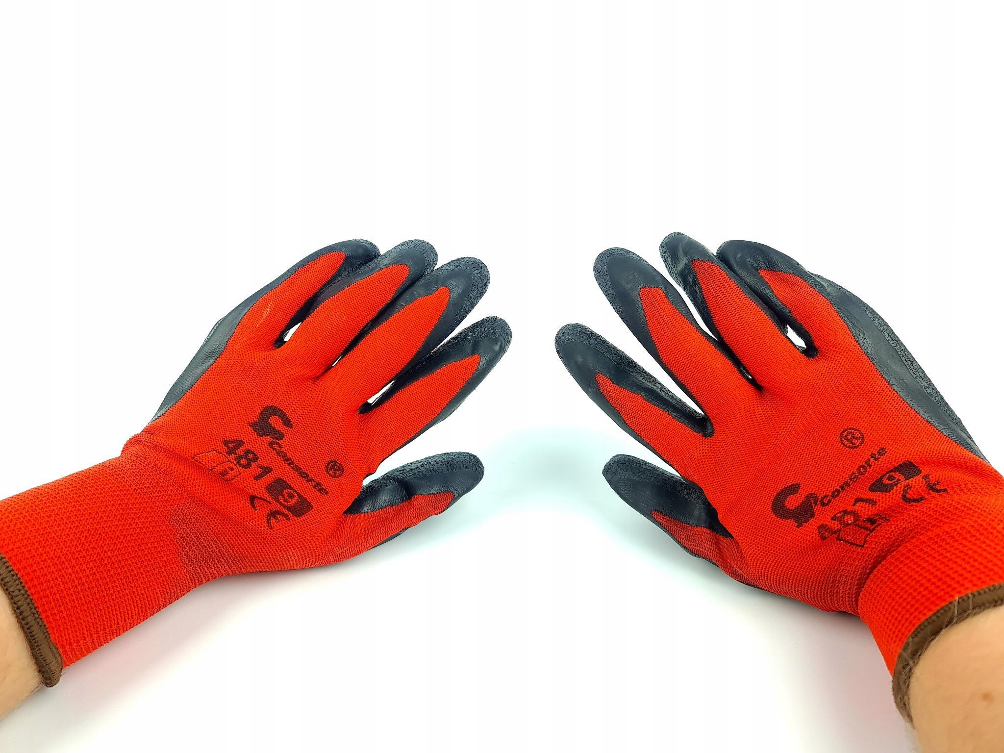 Красные рабочие садовые перчатки L 9