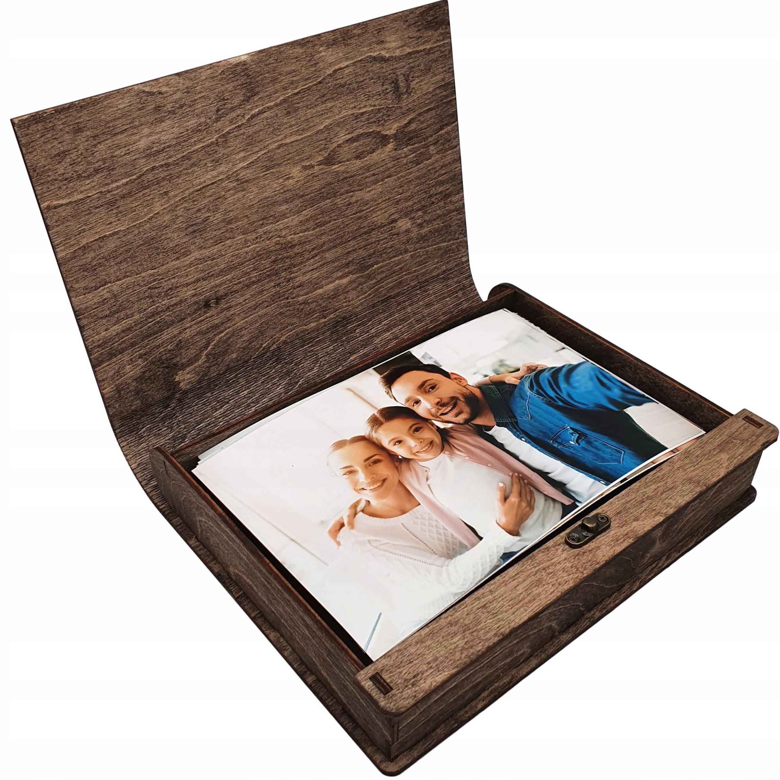 ALBUM drewniany na zdjęcia PUDEŁKO 15x23 150szt