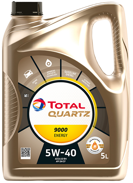 TOTAL QUARTZ 9000 ENERGY 5W40 - 5L + FREE