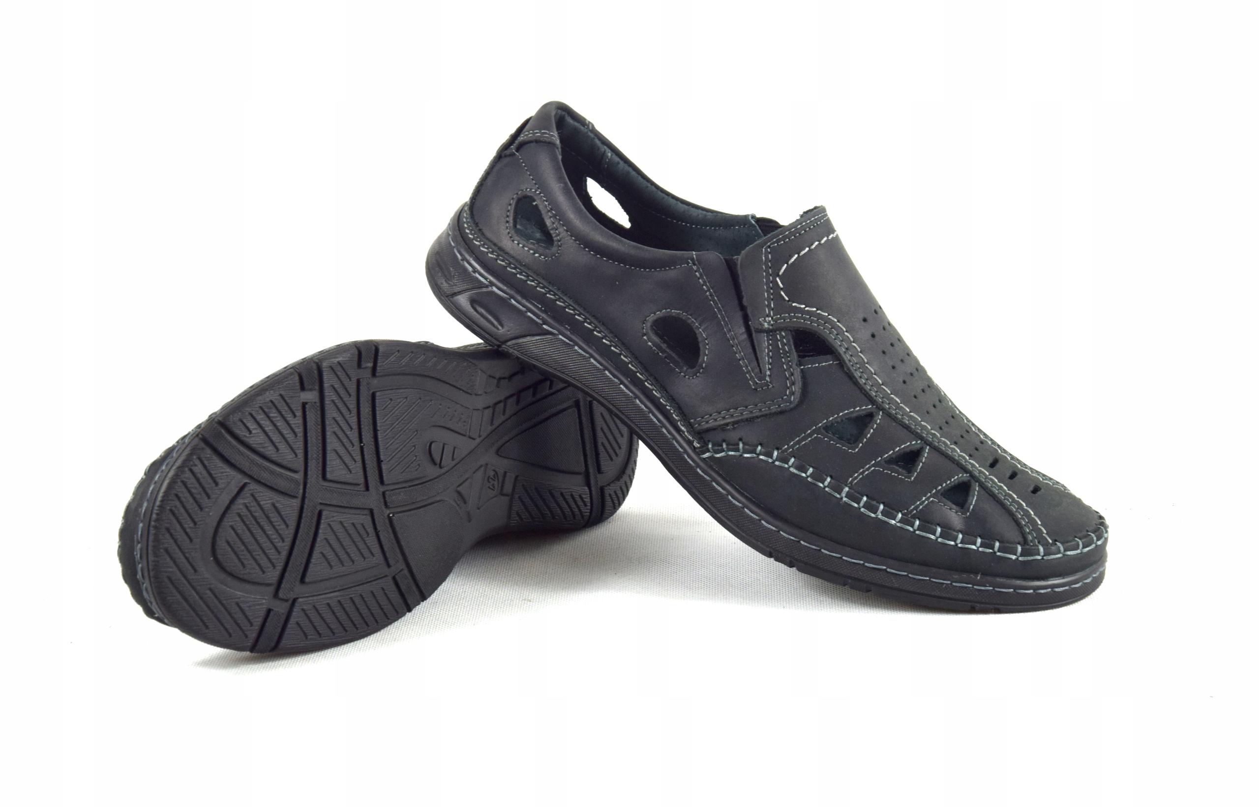 Męskie buty skórzane polskie mokasyny skóra 0270CC Materiał wkładki skóra naturalna