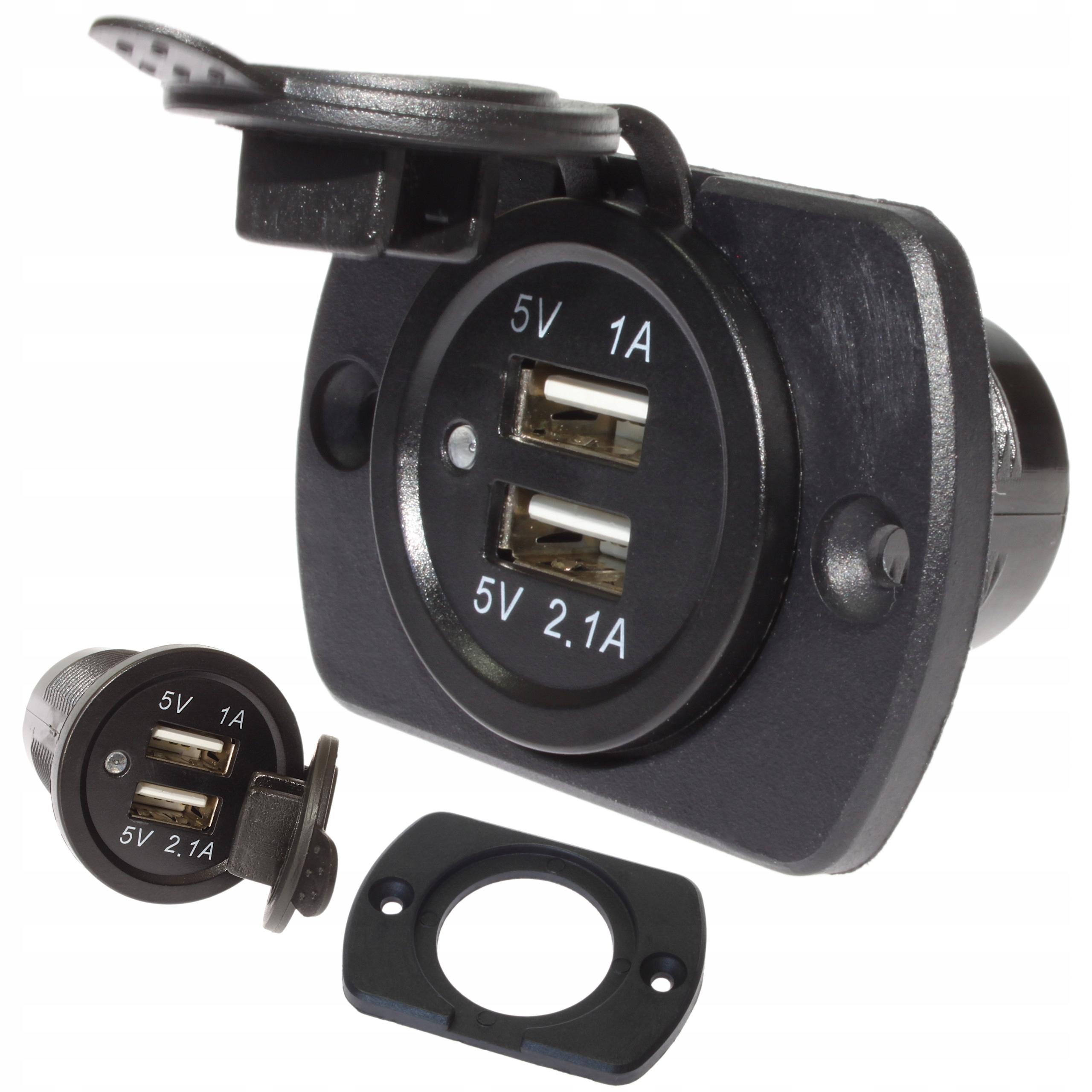 панель Зарядное устройство 5v usb 31a автомобильная 12v 24v