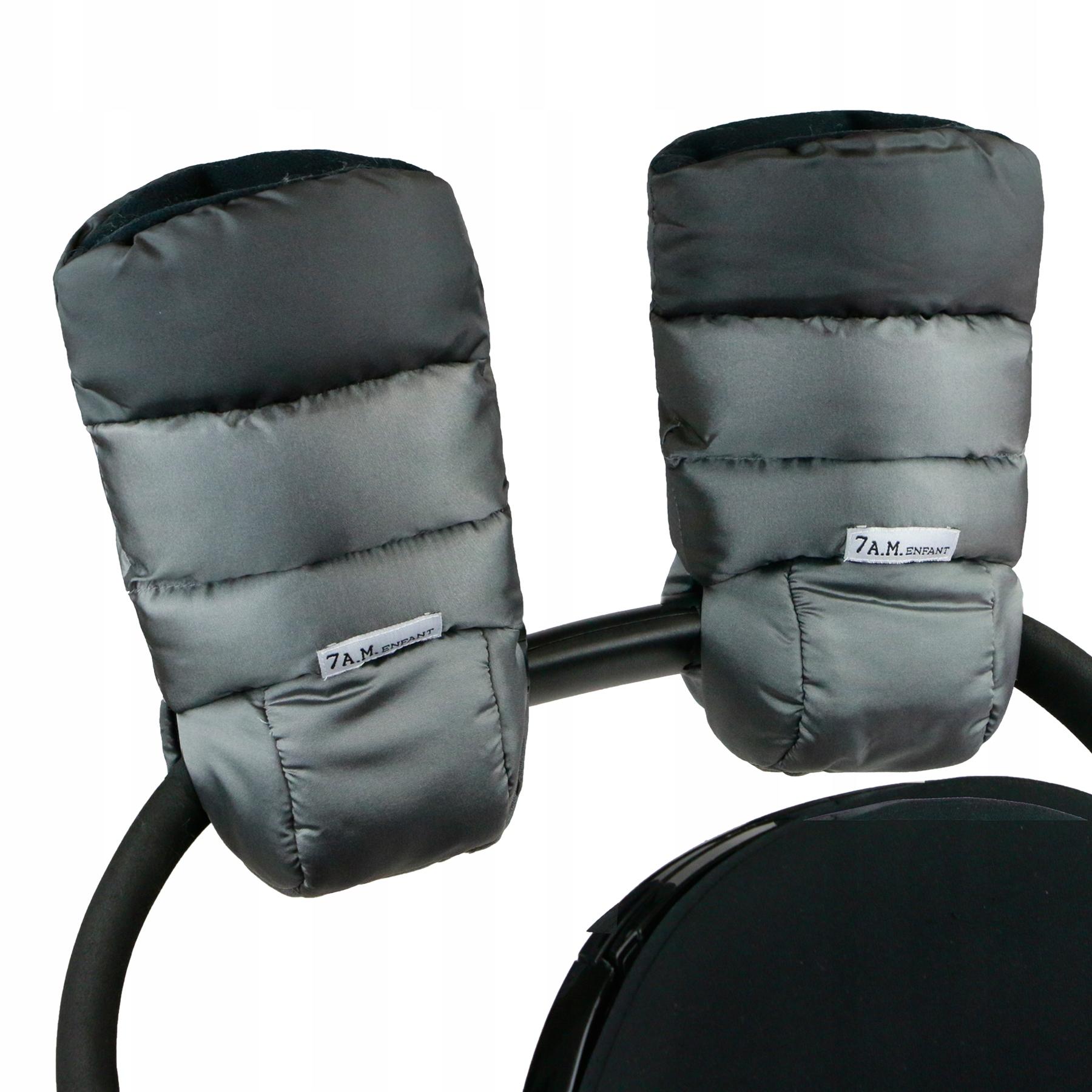 7AM Muffs pre vozík s kovovým strieborným uhlím