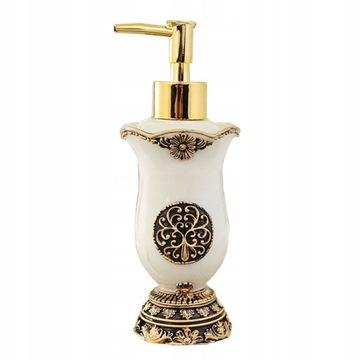 Štýlový zlatý dávkovač mydla Retro