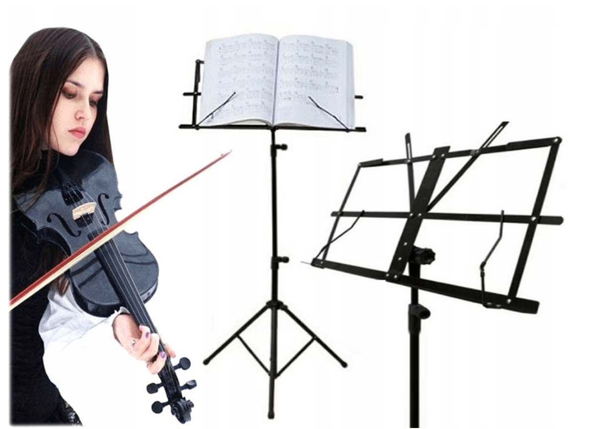 Item MUSIC STAND FOR SHEET MUSIC TRIPOD STAND FOR MUSIC + COVER