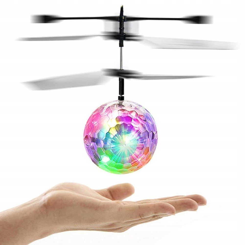 Item A GLOWING BALL DISCO FLYING HAND OPERATED