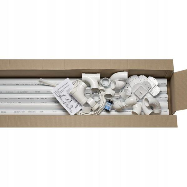 Центральный пылесос - комплект на 5 розеток и 2 ящика