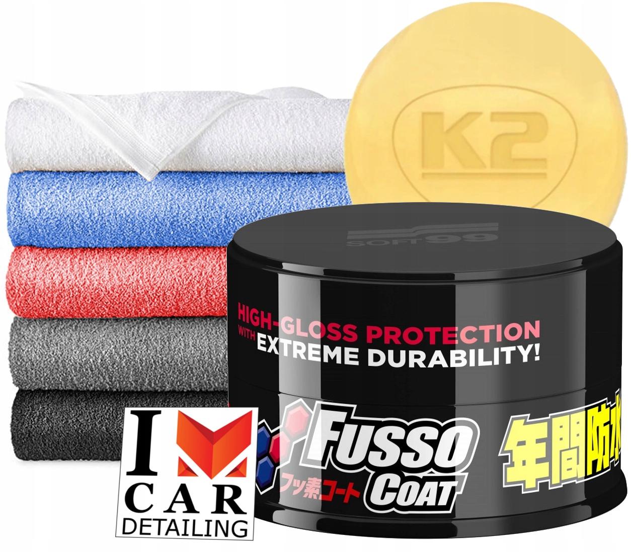 Soft99 Fusso пальто 12 месяцев воск Темная новая формула