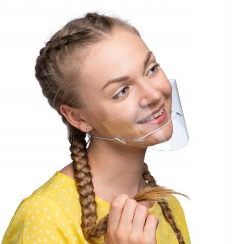 Maseczka maska plastikowa osłona twarzy