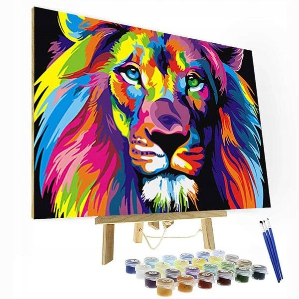 ЖИВОПИСЬ ПО НОМЕРАМ - Красочный лев