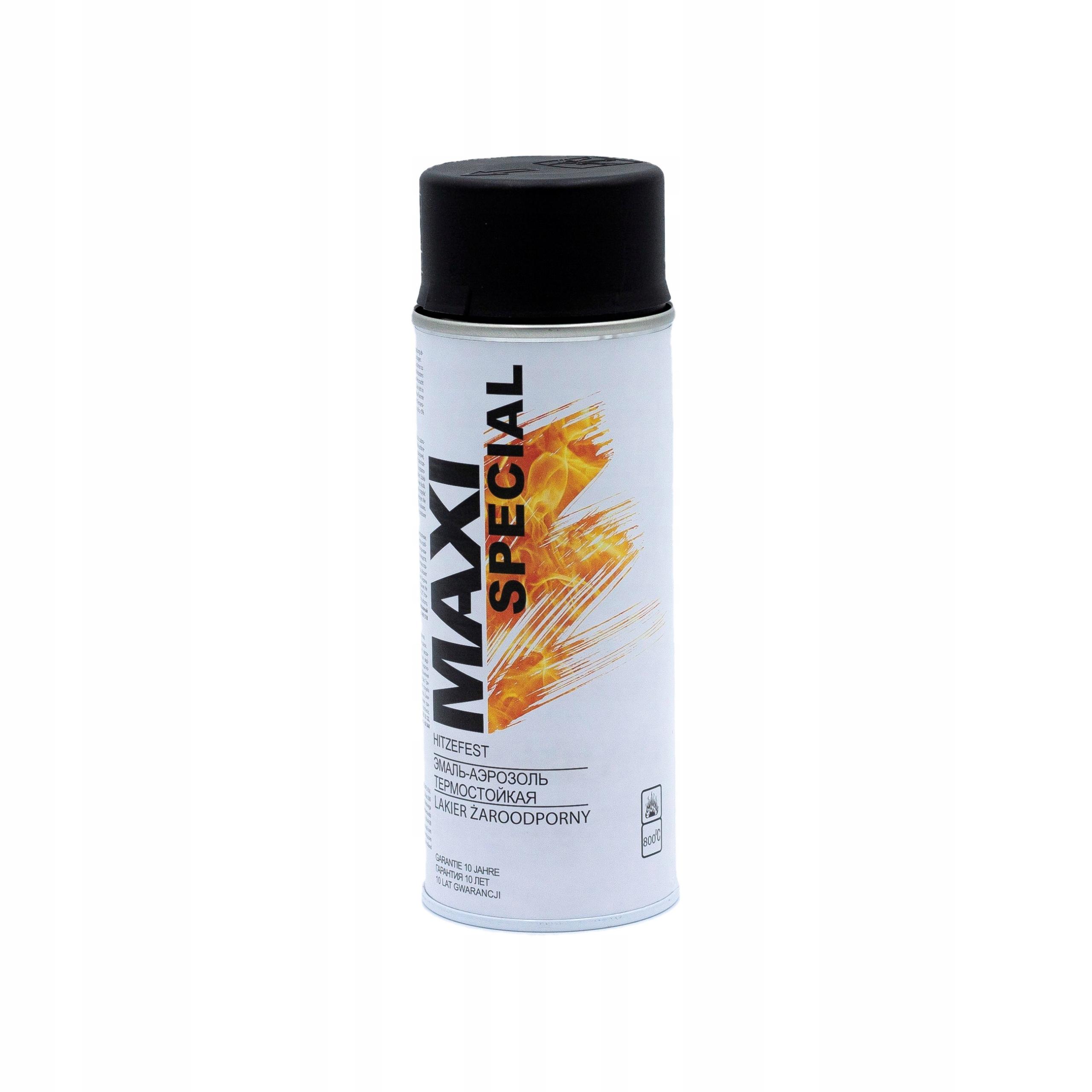 Maxi żaroodporny spray farba tłumików 800 czarny
