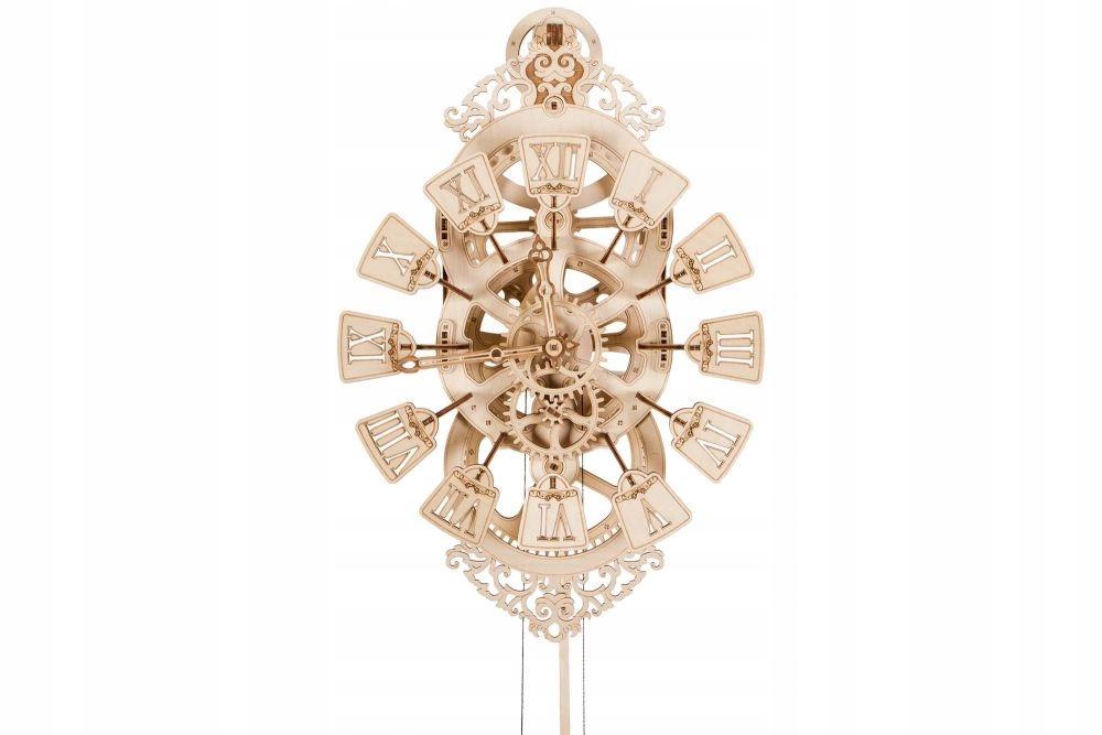 Drevené nástenné drevené nástenné hodiny 14+ 3D puzzle