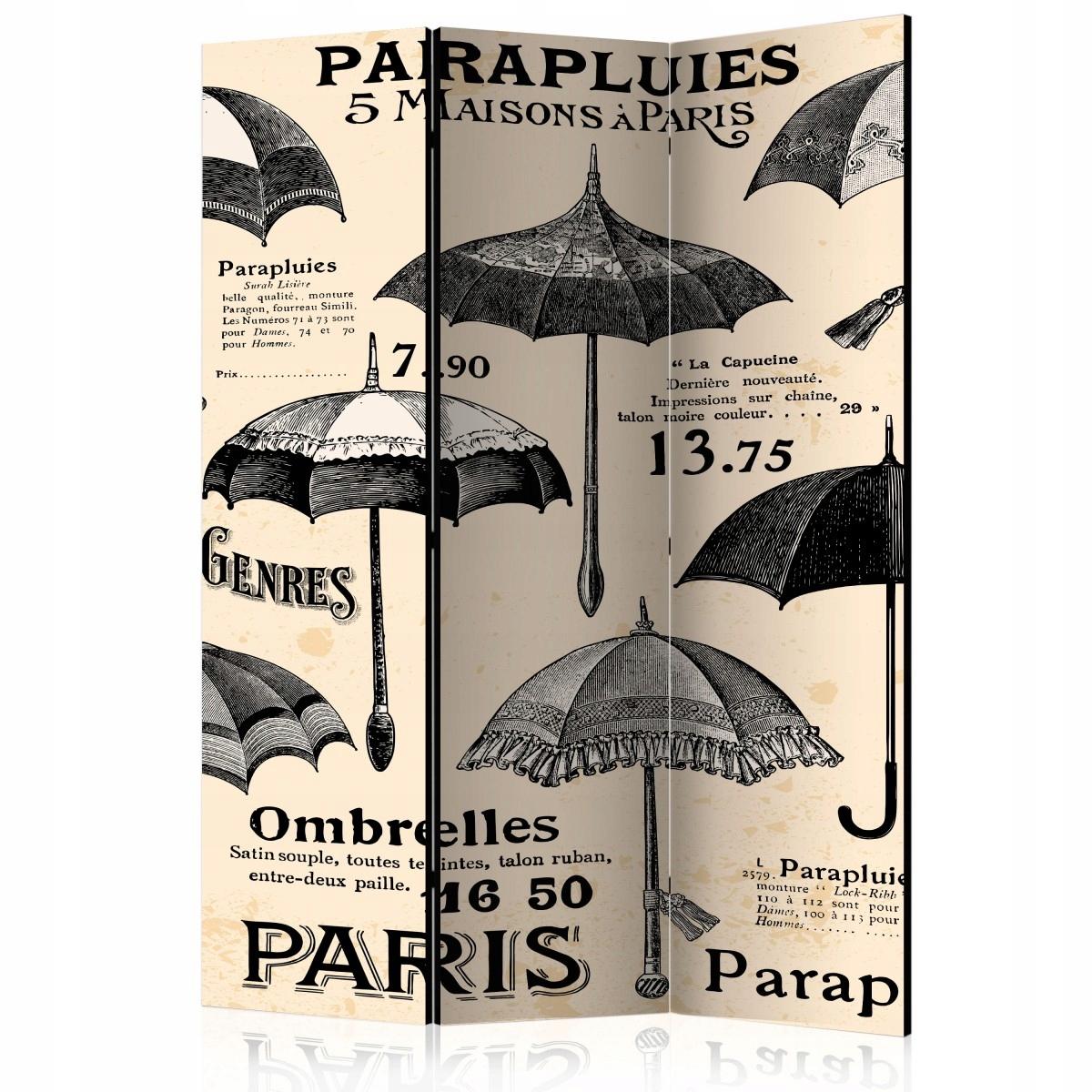 Dekoračná zástena 135x172 Vintage retro dáždniky