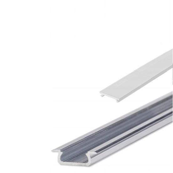 Алюминиевый профиль для LED врезные Из 2m + абажур