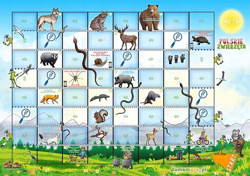 eko gra kopertowa dla dzieci POLSKIE ZWIERZĘTA Szerokość produktu 33 cm