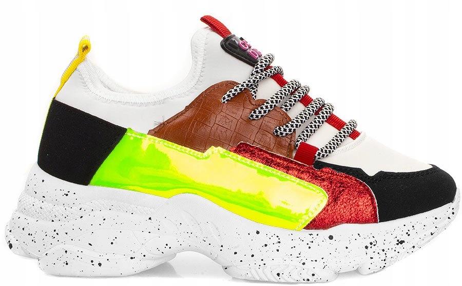 4509 Sneakersy Na Platformie Hologram Adidasy 40