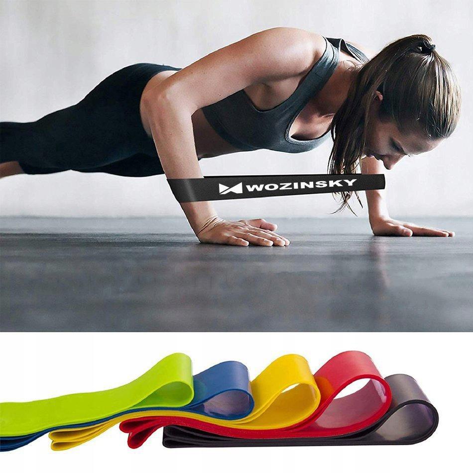 Taśmy Gumy oporowe do ćwiczeń joga fitness Długość 60 cm