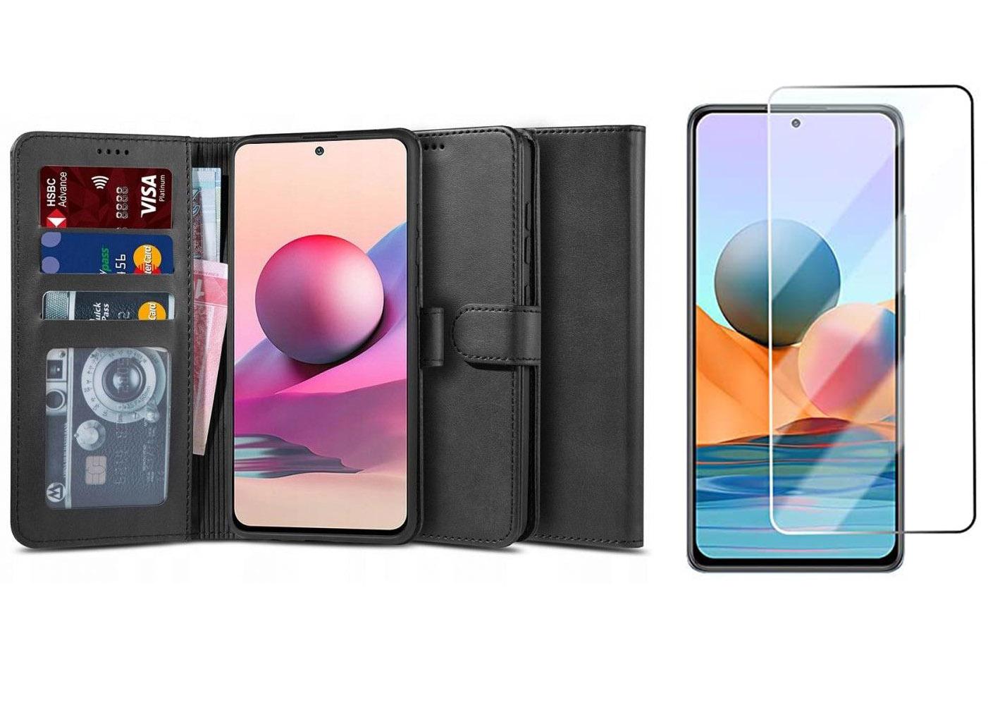 Etui Wallet 2 + szkło do Xiaomi Redmi Note 10, 10S