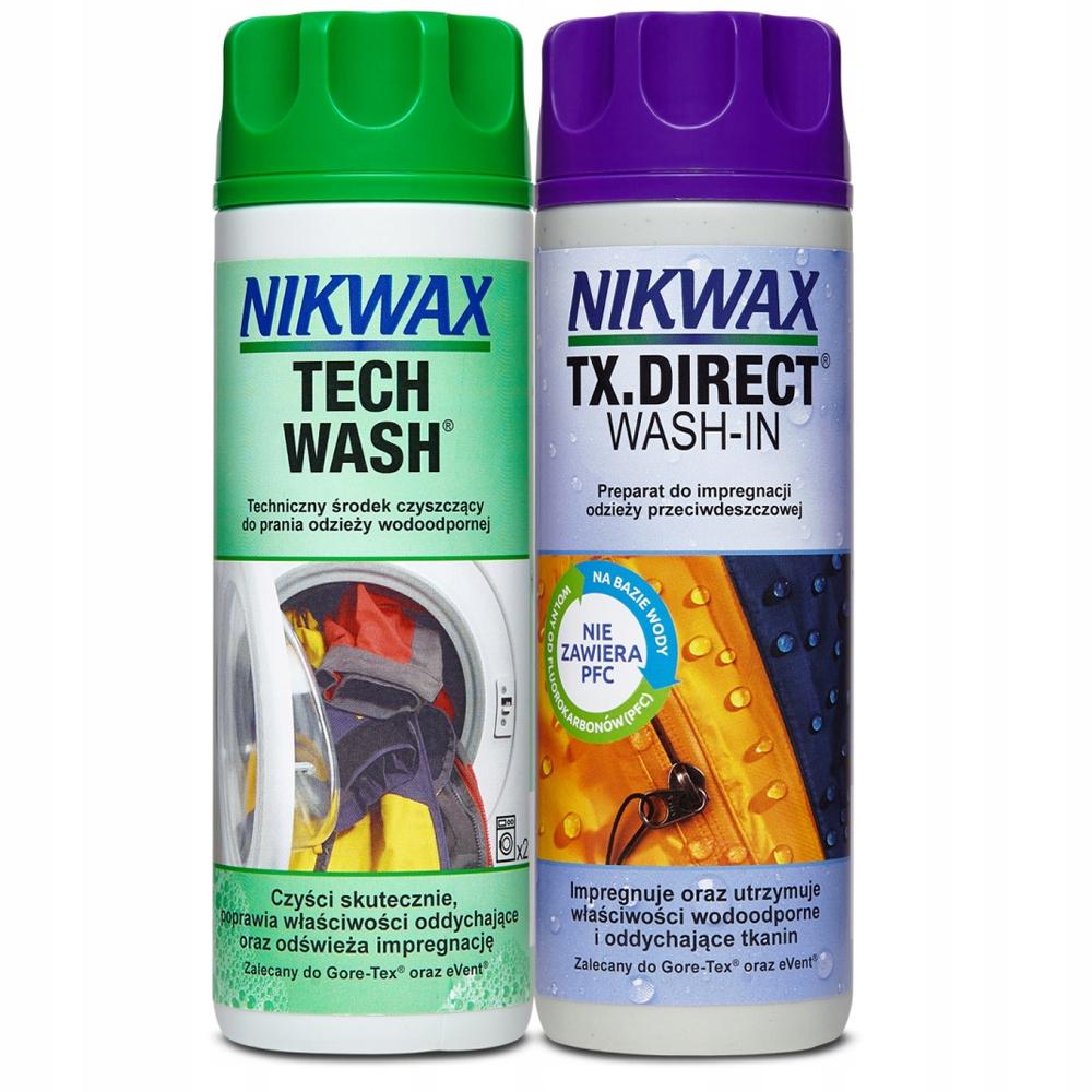 Nikwax Tech Wash TX Набор для прямой стирки 2x300 мл
