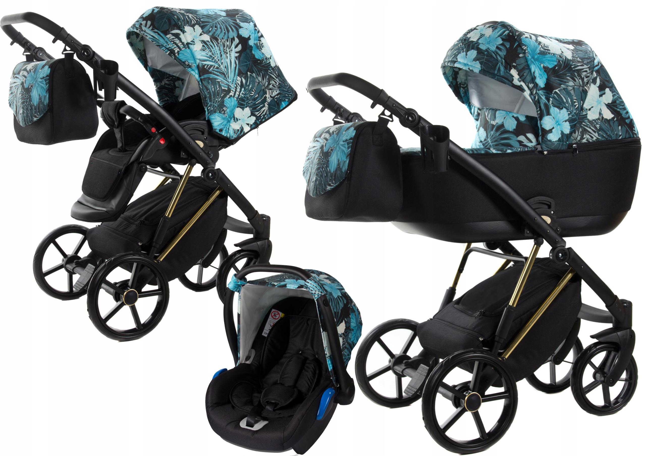 Wózek dziecięcy 3w1 VERSO FLOWERS COLLECTION Alu