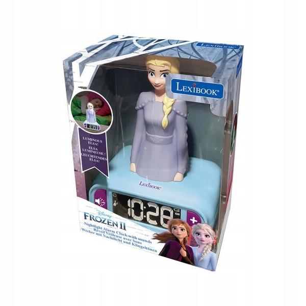 nočná lampa Frozen Frozen ALARM CLOCK 3D hodiny