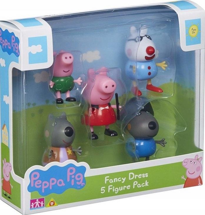 Sada krásnych kostýmov 5 figúrok prasiatka Peppa Pig