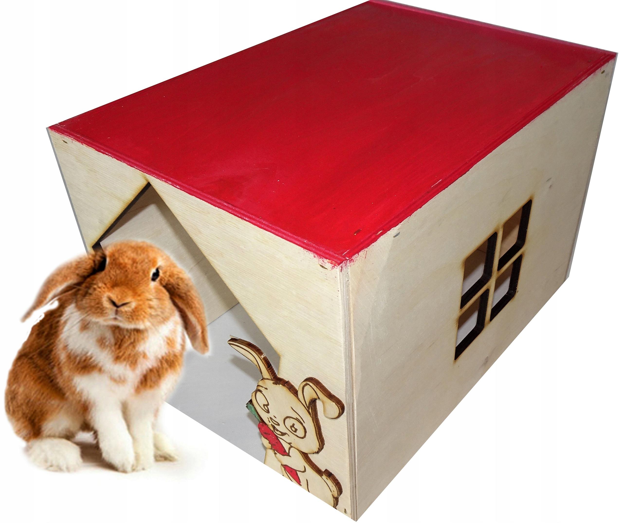 drewniany domek dla królika, klatka+ GRATIS