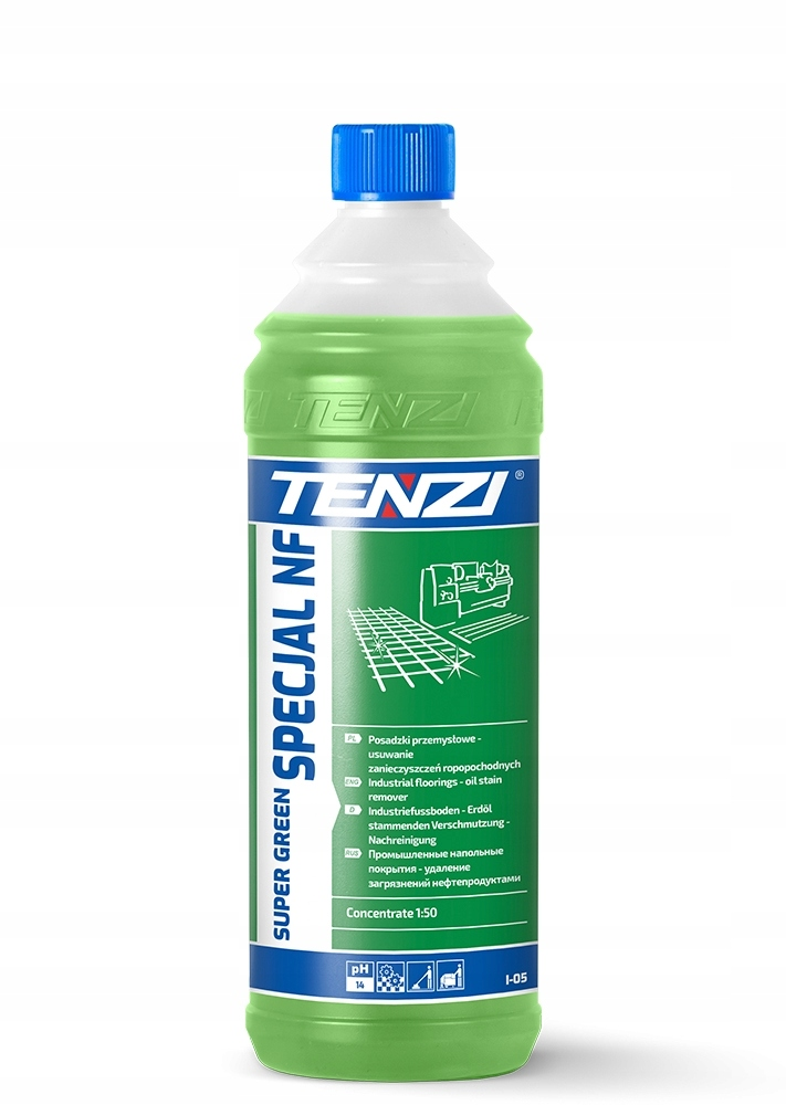 TENZI SUPER GREEN SPECIAL NF 1L ДЛЯ ОЧИСТКИ ПОЛОВ
