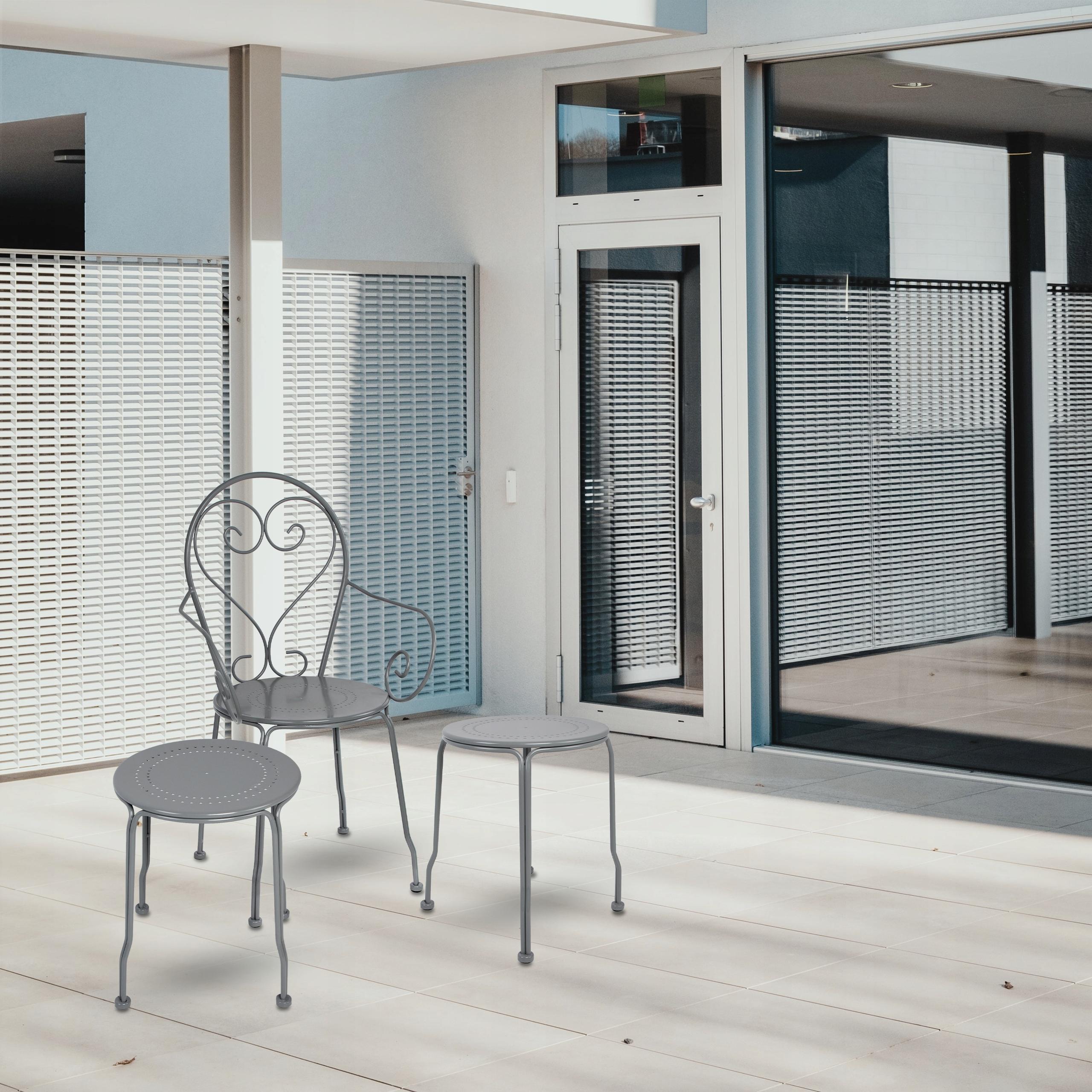 Sada kovového záhradného nábytku PATIO Balkónová terasová kávová súprava