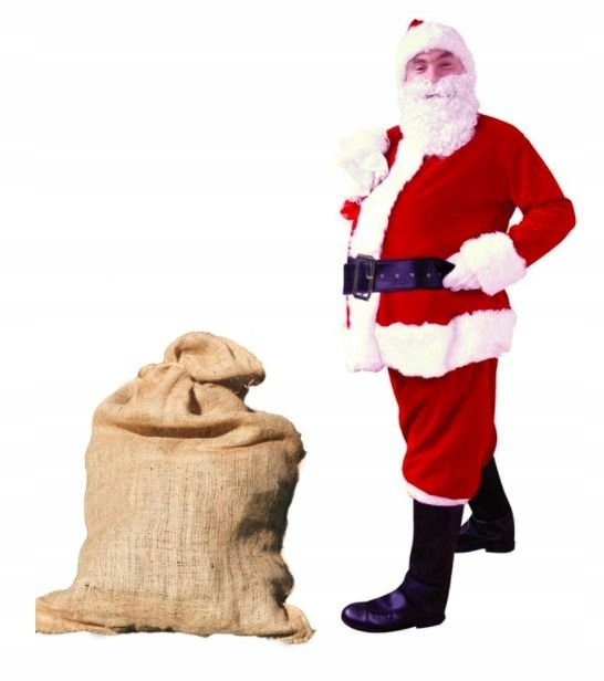Костюм Деда Мороза люкс бархат 9 предметы