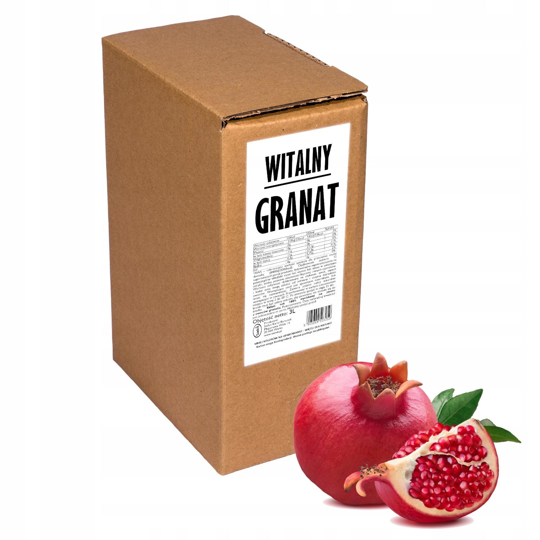 sok z granatu granat 100% naturalny tłoczony 3L