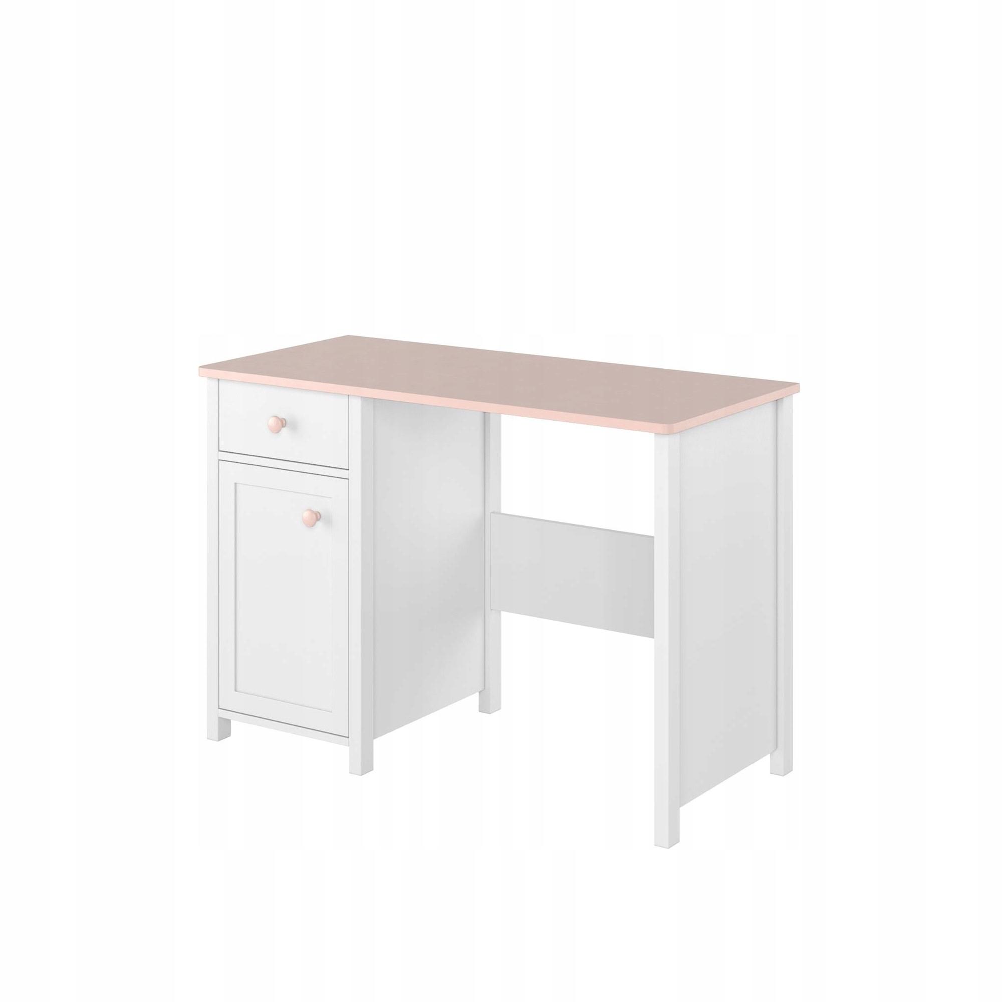 Принцесса письменный стол LUNA LN-03 белый / розовый