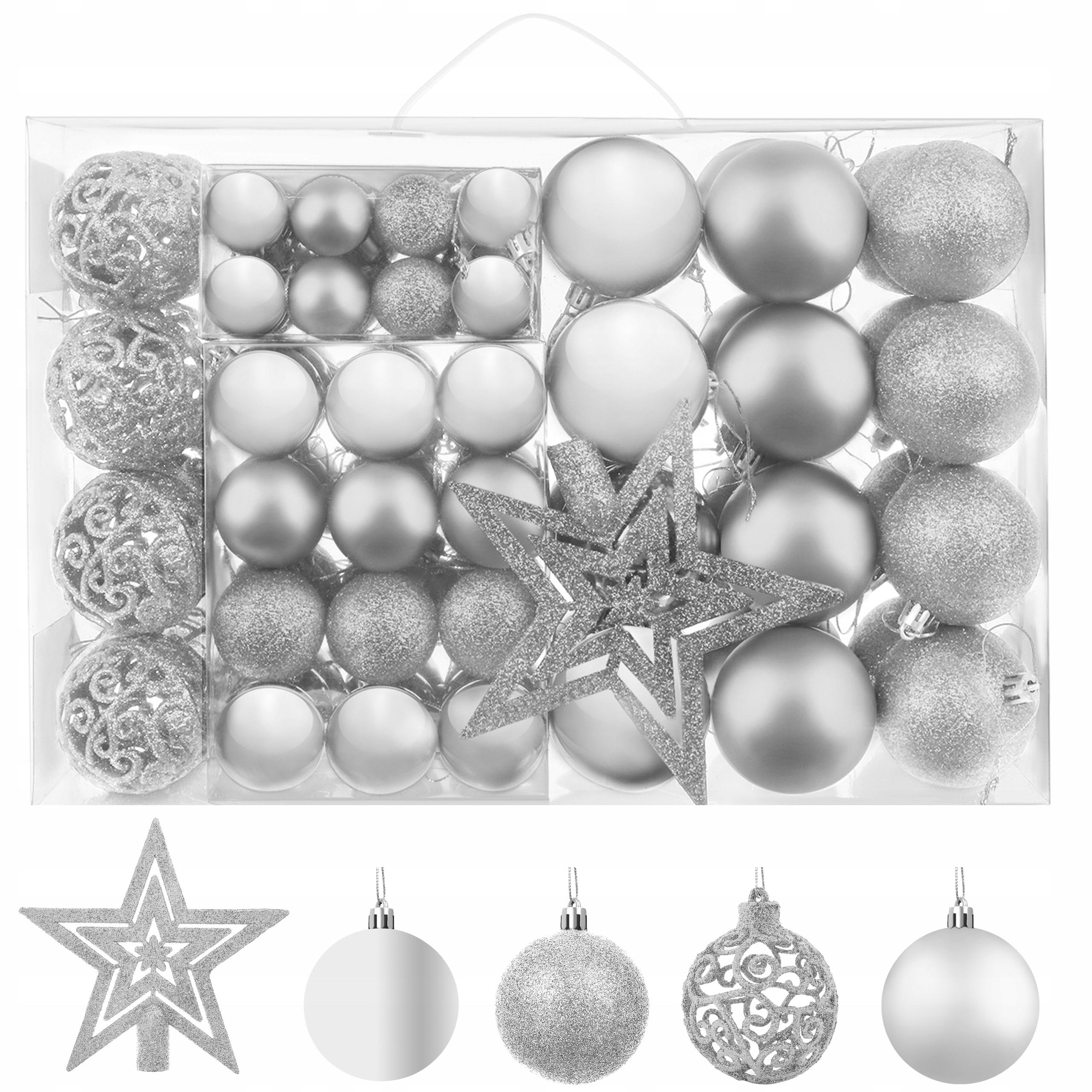 Елочные шары Набор микс 100шт Silver Star