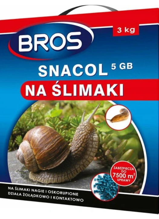 BROS SNACOL środek trutka na ślimaki 3 KG