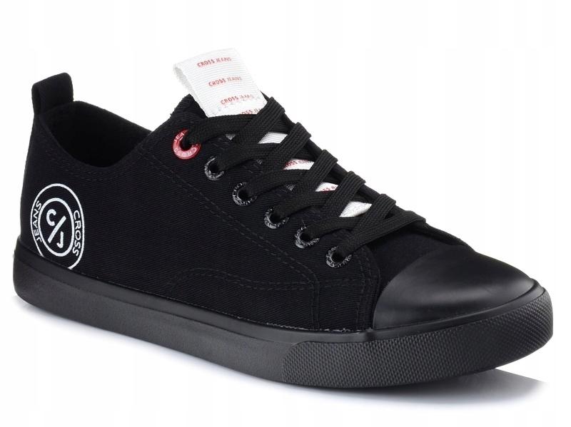 Trampki Cross Jeans FF2R4020 Czarne Niskie 38