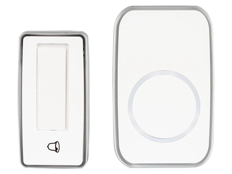 Беспроводной дверной звонок - белый ДИАПАЗОН 100 м