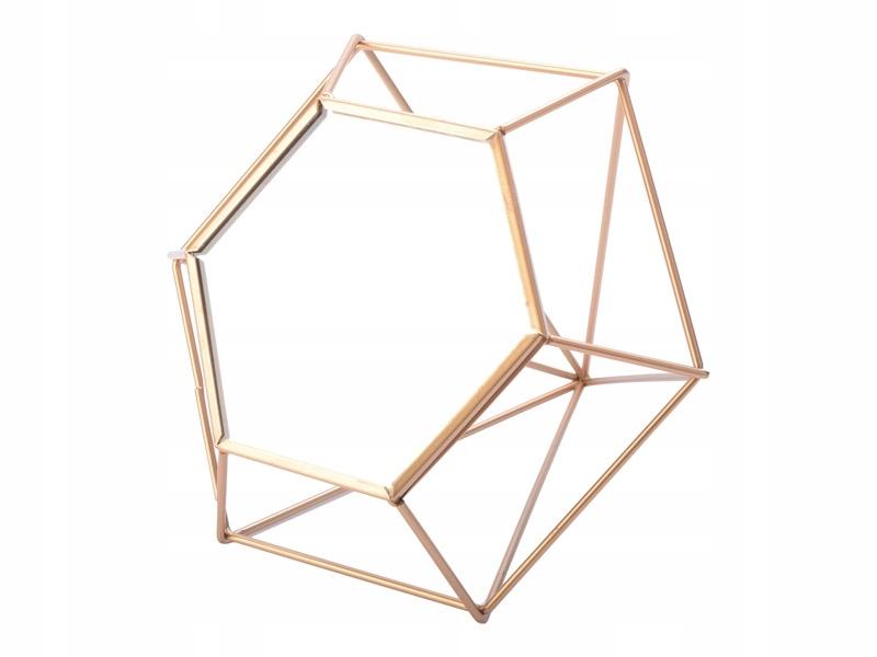 Kozmetické zrkadlo geometrické zlato 18 DEFEKT