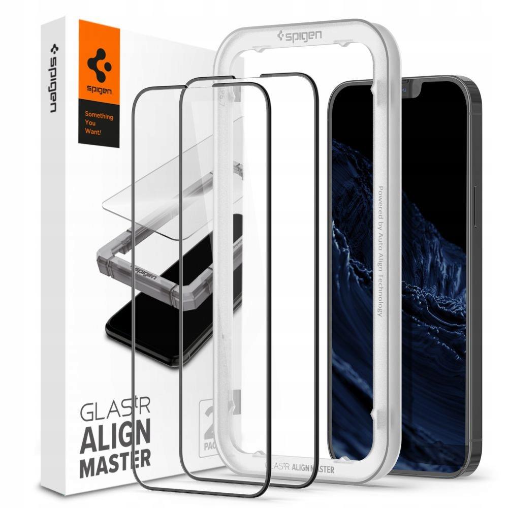 2x Szkło Spigen Alm Glass Fc do iPhone 13 Pro Max