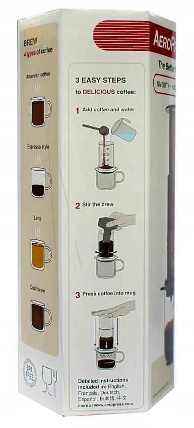 Aeropress AEROBIE - zaparzacz do kawy z filtrami Kod producenta 80R08