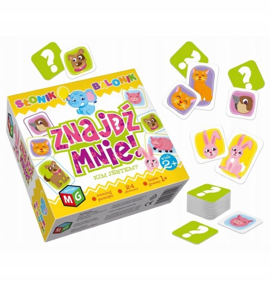 gra edukacyjna dla 2 latka na pamięć koncentrację