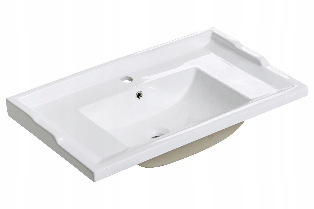 Retro 80 cm keramické umývadlo