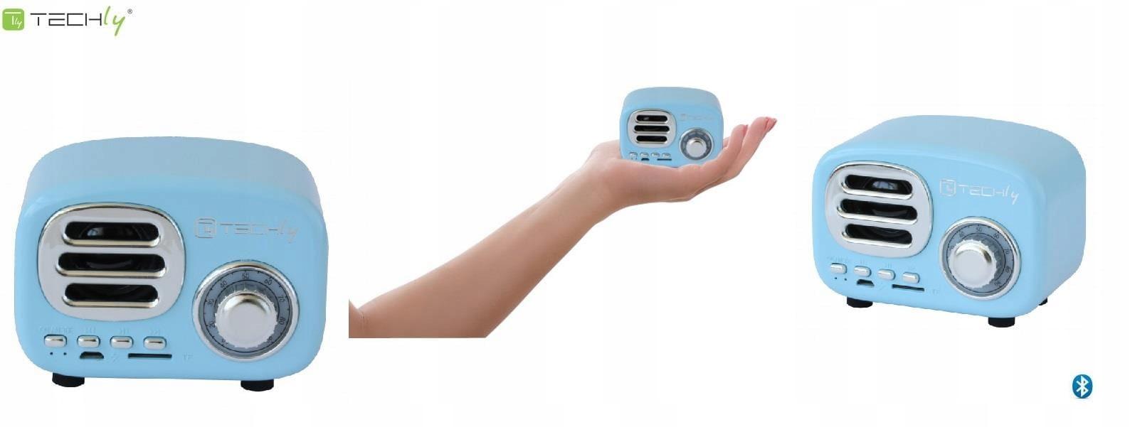 Techly Bluetooth Reproduktor Retro Modrá