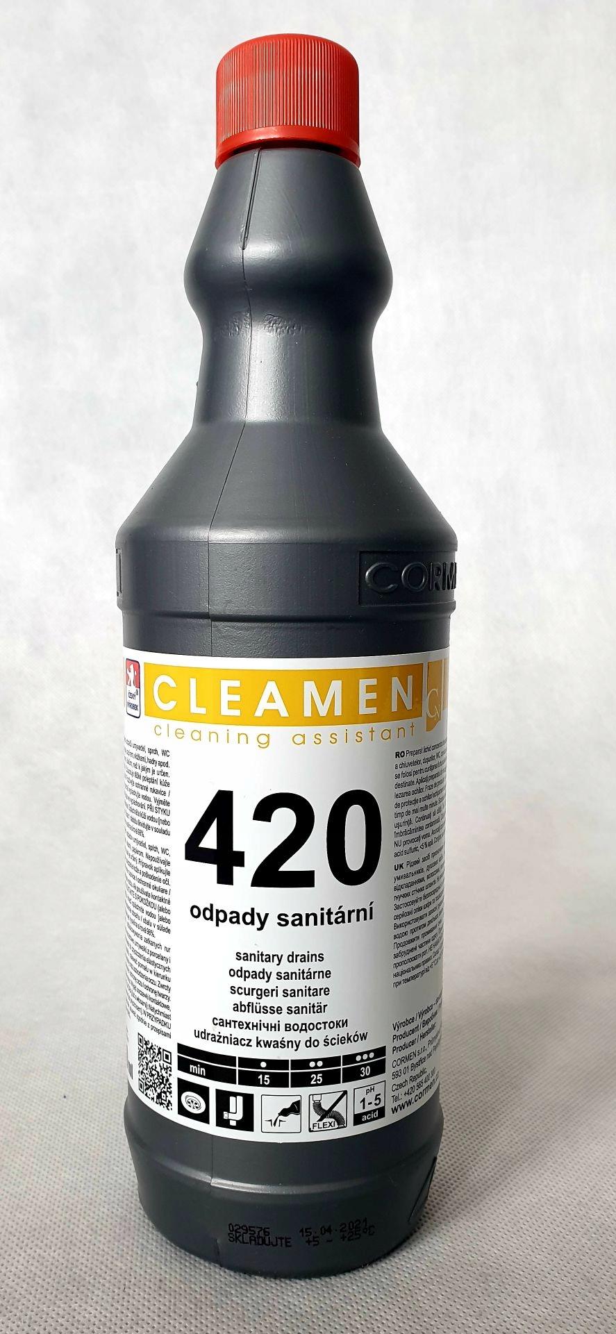 CLEAMEN 420 UDRAŻNIACZ ODPŁYWÓW SANITARNYCH