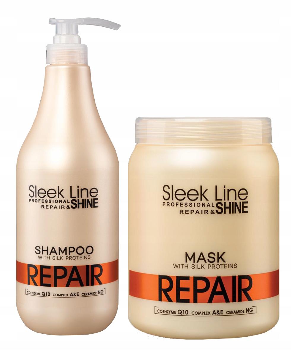 STAPIZ Sleek Line Repair Zestaw XXL Szampon Maska