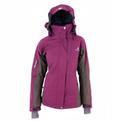 kurtka narciarska fioletowo rozowa