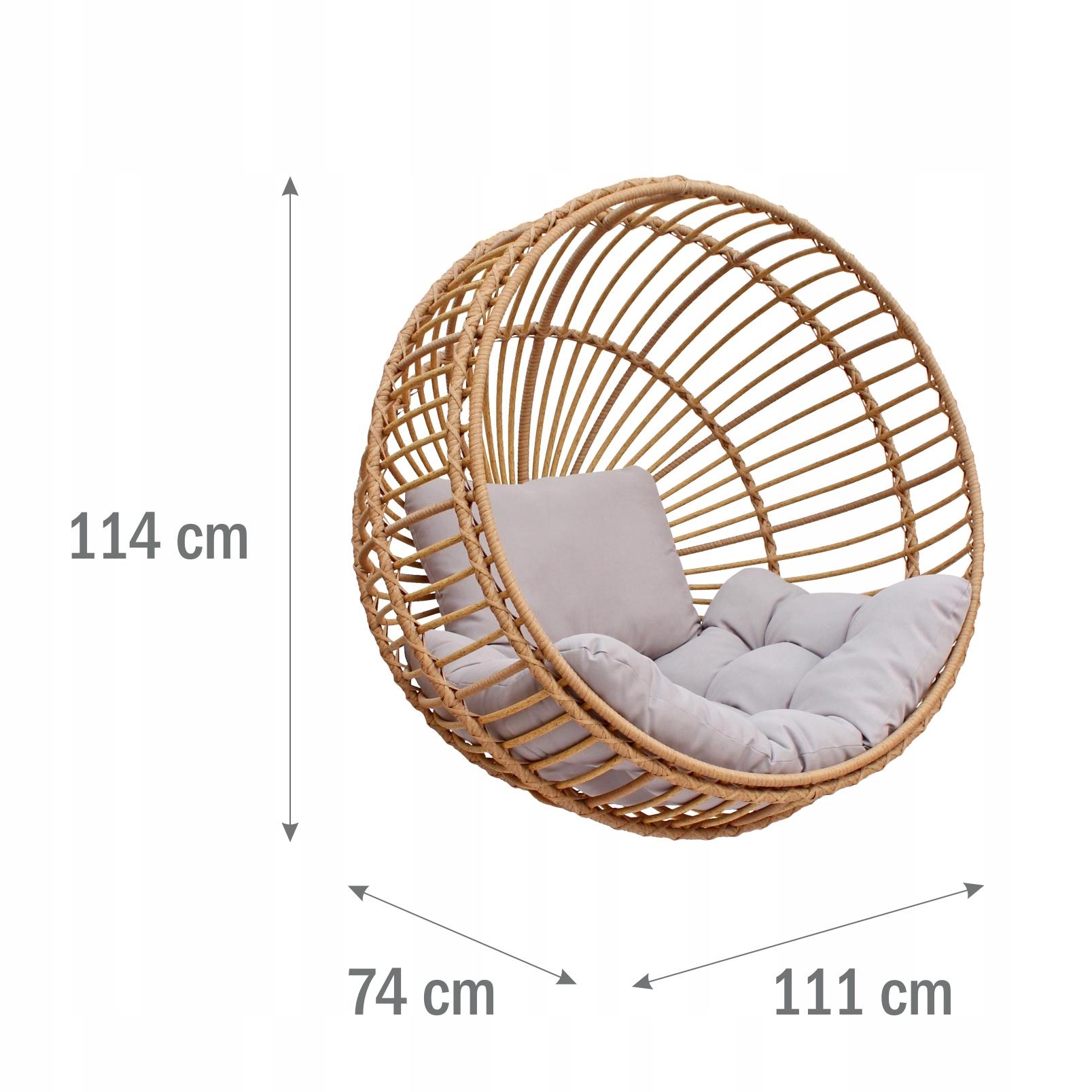 Závesná záhradná stolička kokónovací kôš STELLA výrobca MEVEN